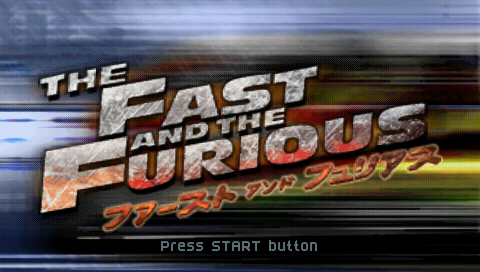 The Fast and the Furious PSP Splash screen