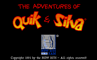 The Adventures of Quik and Silva Atari ST Title screen
