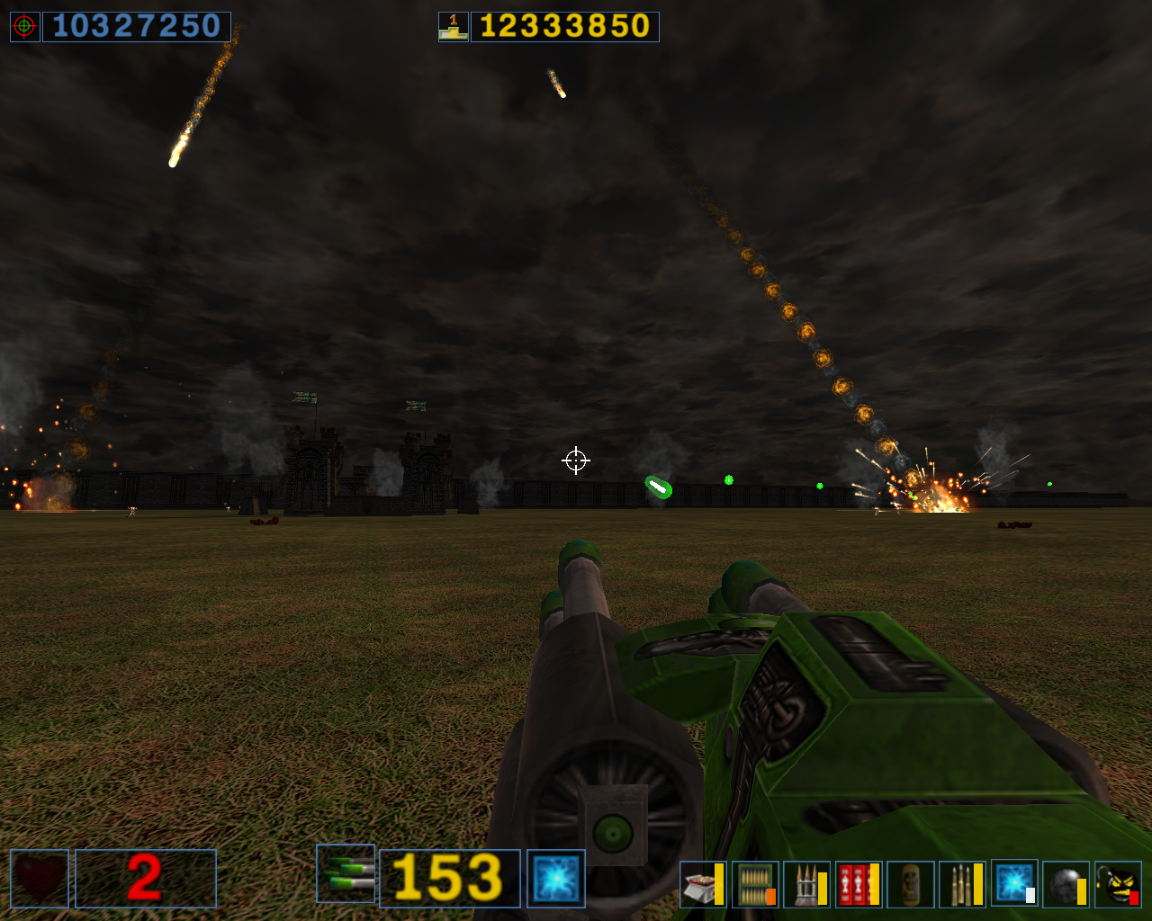 Serious Sam: The Second Encounter Windows Laser weapon and fire rain