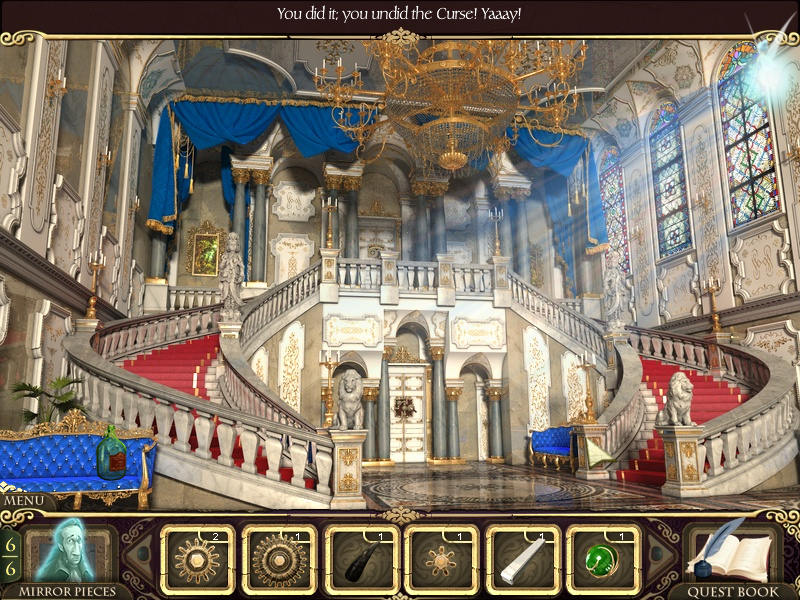 Princess Isabella: A Witch's Curse Windows Curse lifted from the stairway.