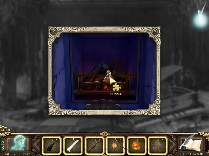 Princess Isabella: A Witch's Curse Windows Using the potion on the fireplace.