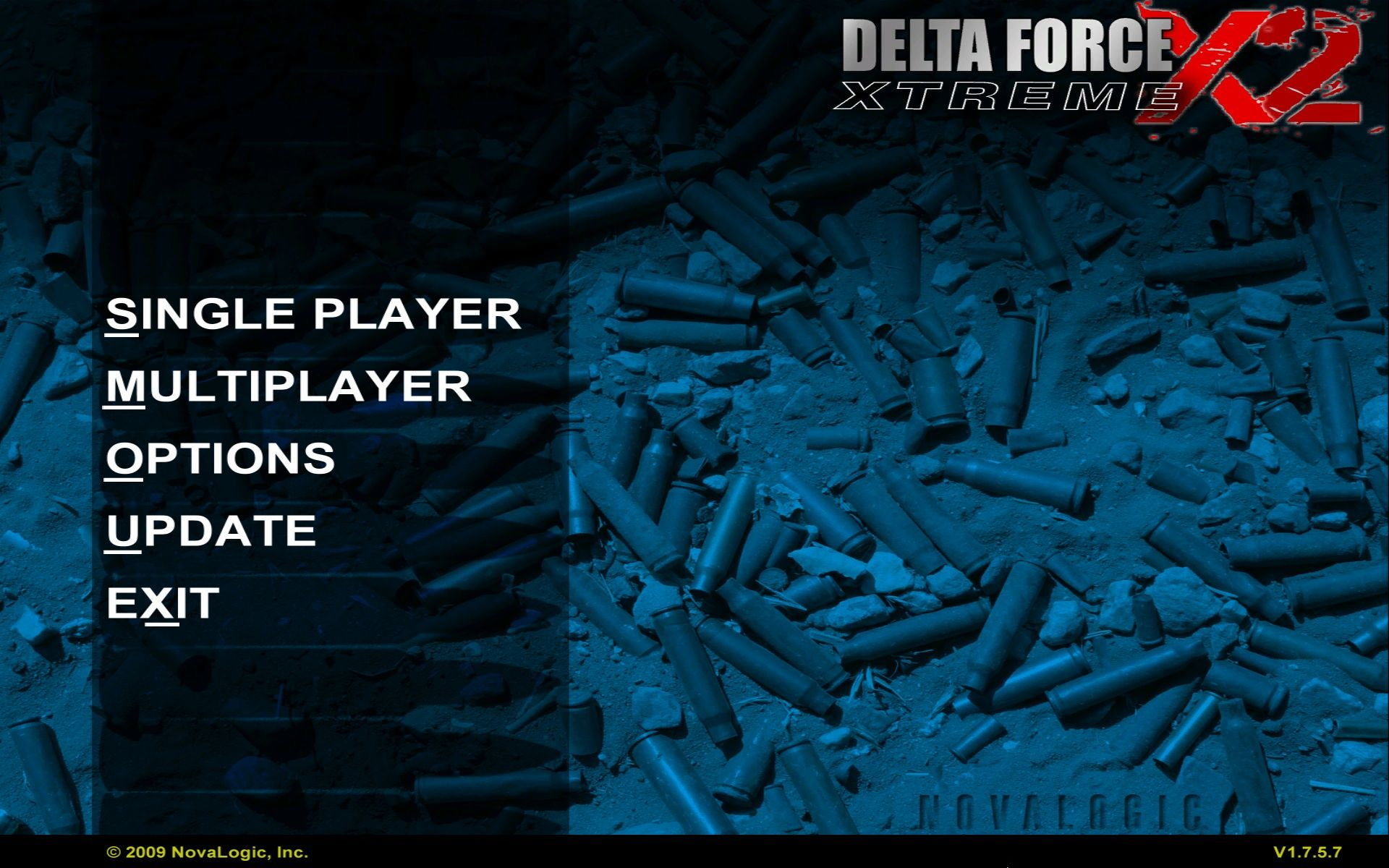Delta Force: Xtreme 2 Windows Main Menu