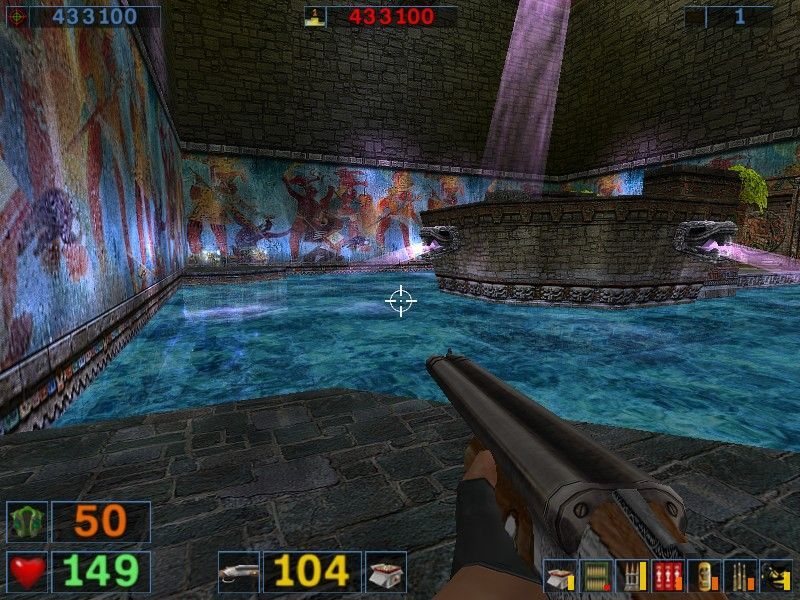 Serious Sam: The Second Encounter Windows A tomb-raiderish pool