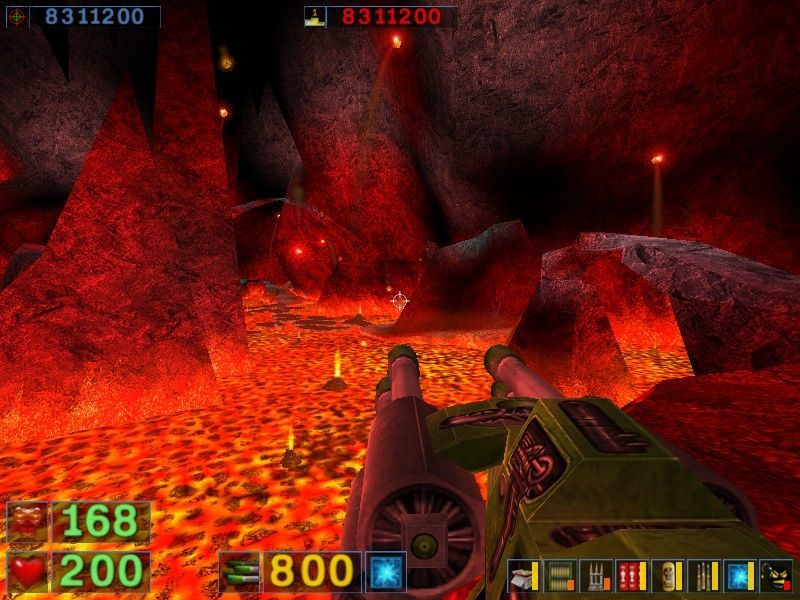 Serious Sam: The Second Encounter Windows Seriously hot down here