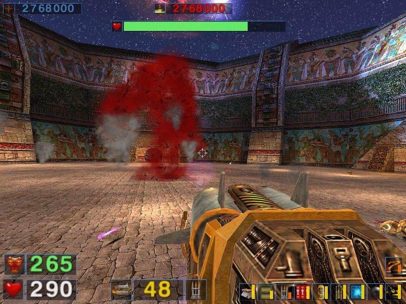 Serious Sam: The Second Encounter Windows How to blow (up) a tornado with a rocket launcher