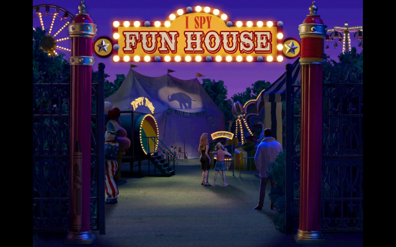I Spy Fun House Windows Park Entrance