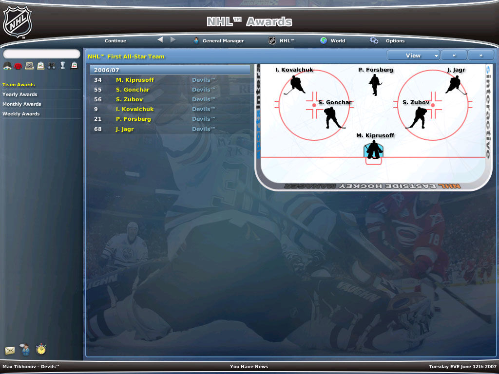 world hockey manager how to play