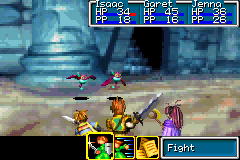Golden Sun Game Boy Advance Fight