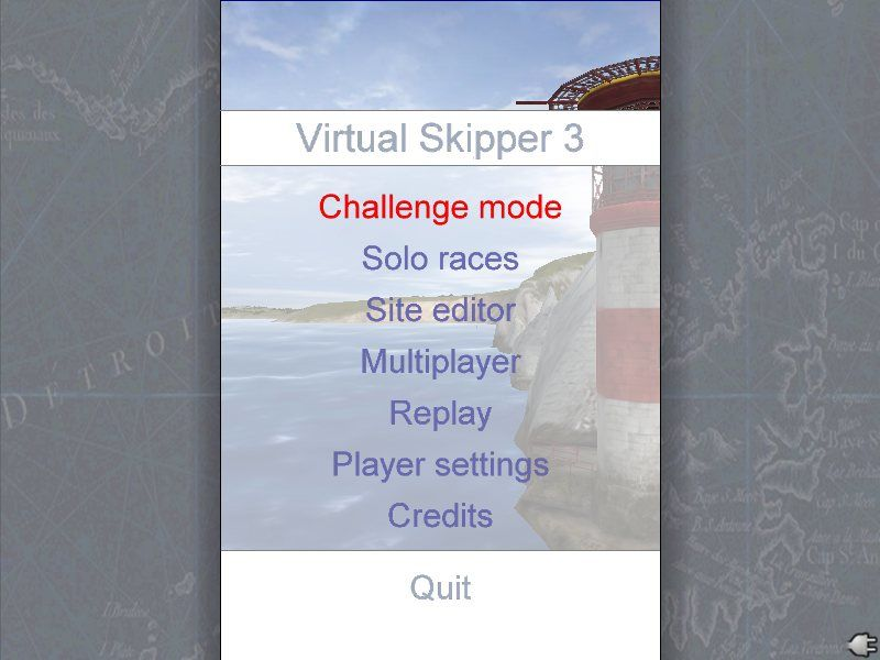 Virtual Skipper 3 Windows Main Menu