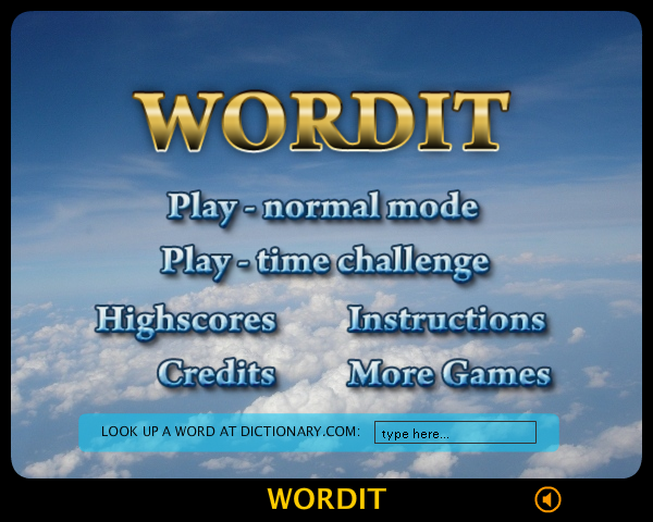 WordIt Browser The start menu