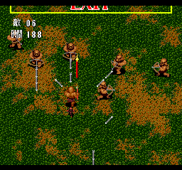 Gain Ground TurboGrafx CD Spears against spears: fair indeed!