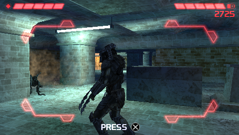 Aliens vs Predator: Requiem PSP There's an almost clumsy quick-time event when the aliens jump on you -- press X to defend