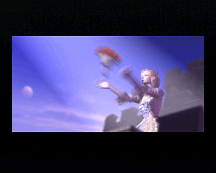Final Fantasy III PlayStation It is particularly nice to see Celes throwing flowers from the balcony as an FMV, after we've seen that in the game which seems as if it has nothing to do with these videos.