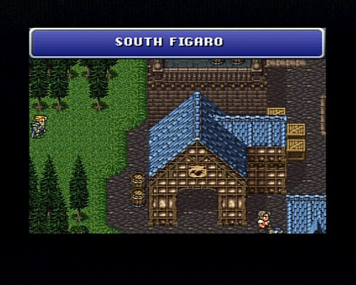 Final Fantasy III PlayStation Entering South Figaro from the west. Is that an irony or what?