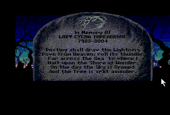 Loom TurboGrafx CD Lady Cygna's tomb