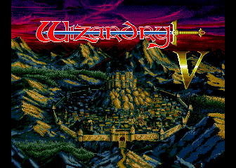 Wizardry V: Heart of the Maelstrom TurboGrafx CD Title screen
