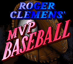 Roger Clemens' MVP Baseball SNES Title screen