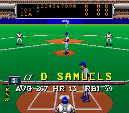 Roger Clemens' MVP Baseball SNES Info on the batter