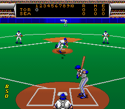 Roger Clemens' MVP Baseball SNES Pitching the ball