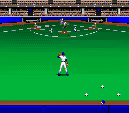 Roger Clemens' MVP Baseball SNES Trying to catch a fly ball