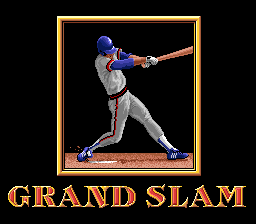 Roger Clemens' MVP Baseball SNES A grand slam home run