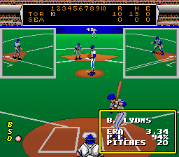 Roger Clemens' MVP Baseball SNES Statistics on the pitcher