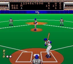 Roger Clemens' MVP Baseball SNES At bat