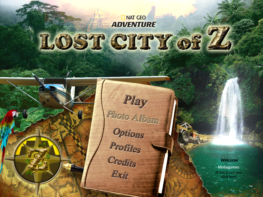 Nat Geo Adventure: Lost City of Z Windows Main menu
