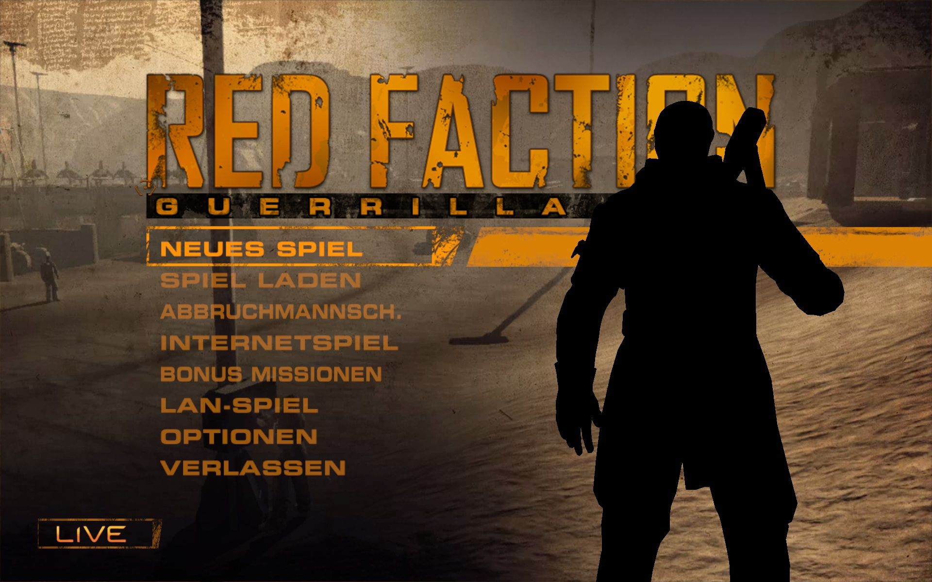 Red Faction: Guerrilla Windows Main Menu