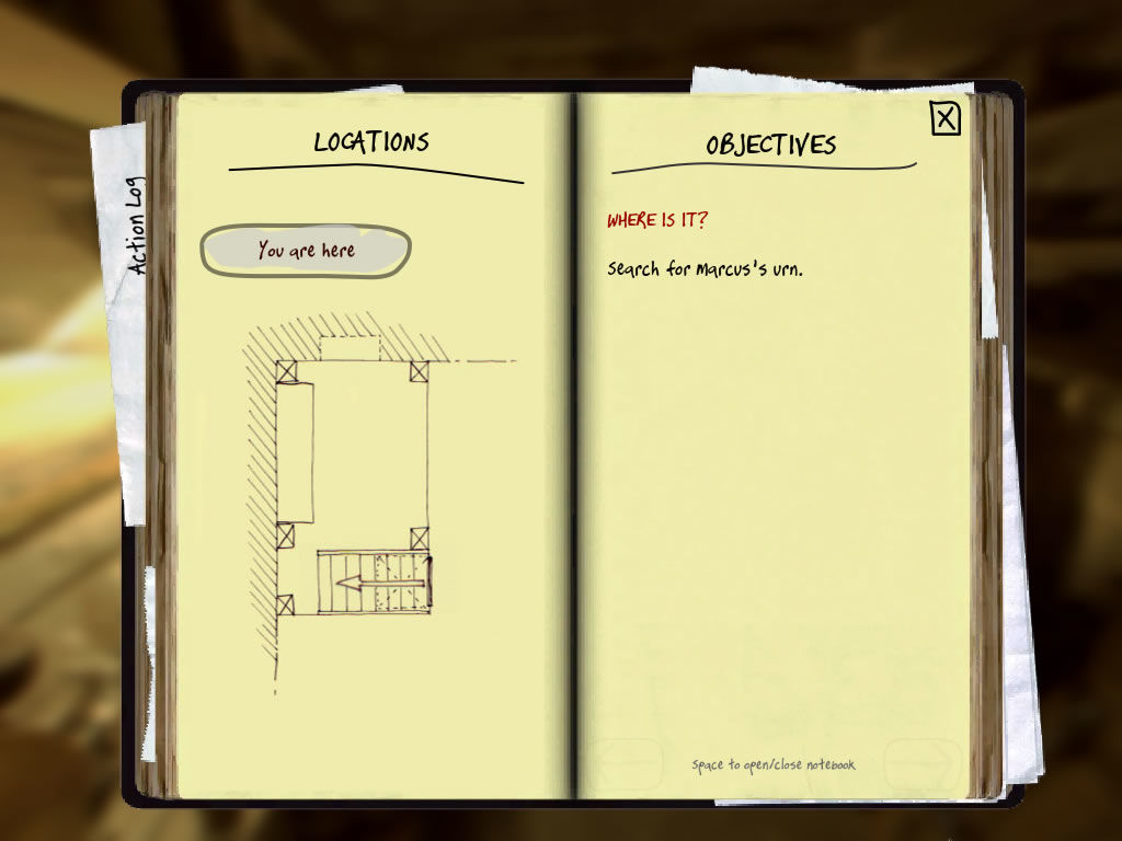 Casebook: Episode 0 - The Missing Urn Windows The location and objectives