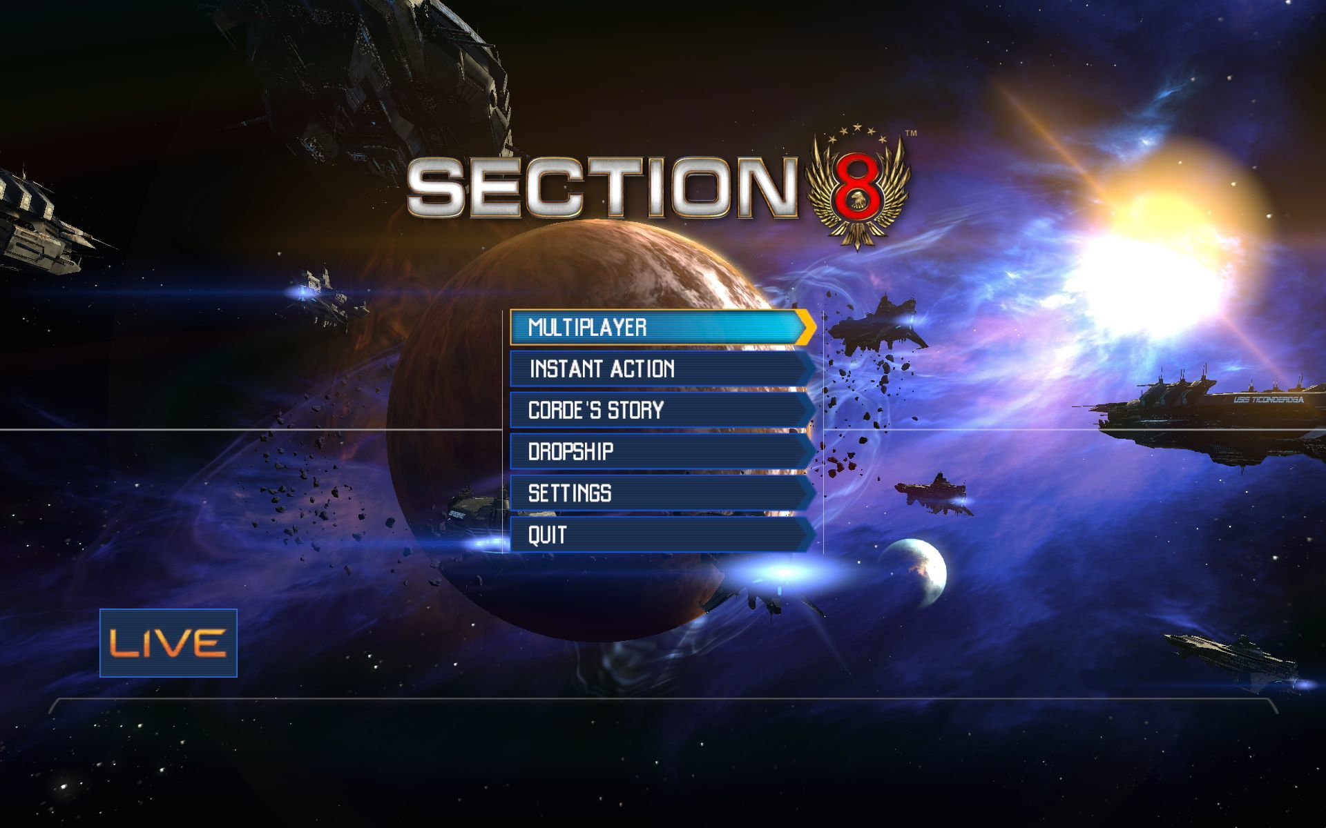 Section 8 Windows Main Menu