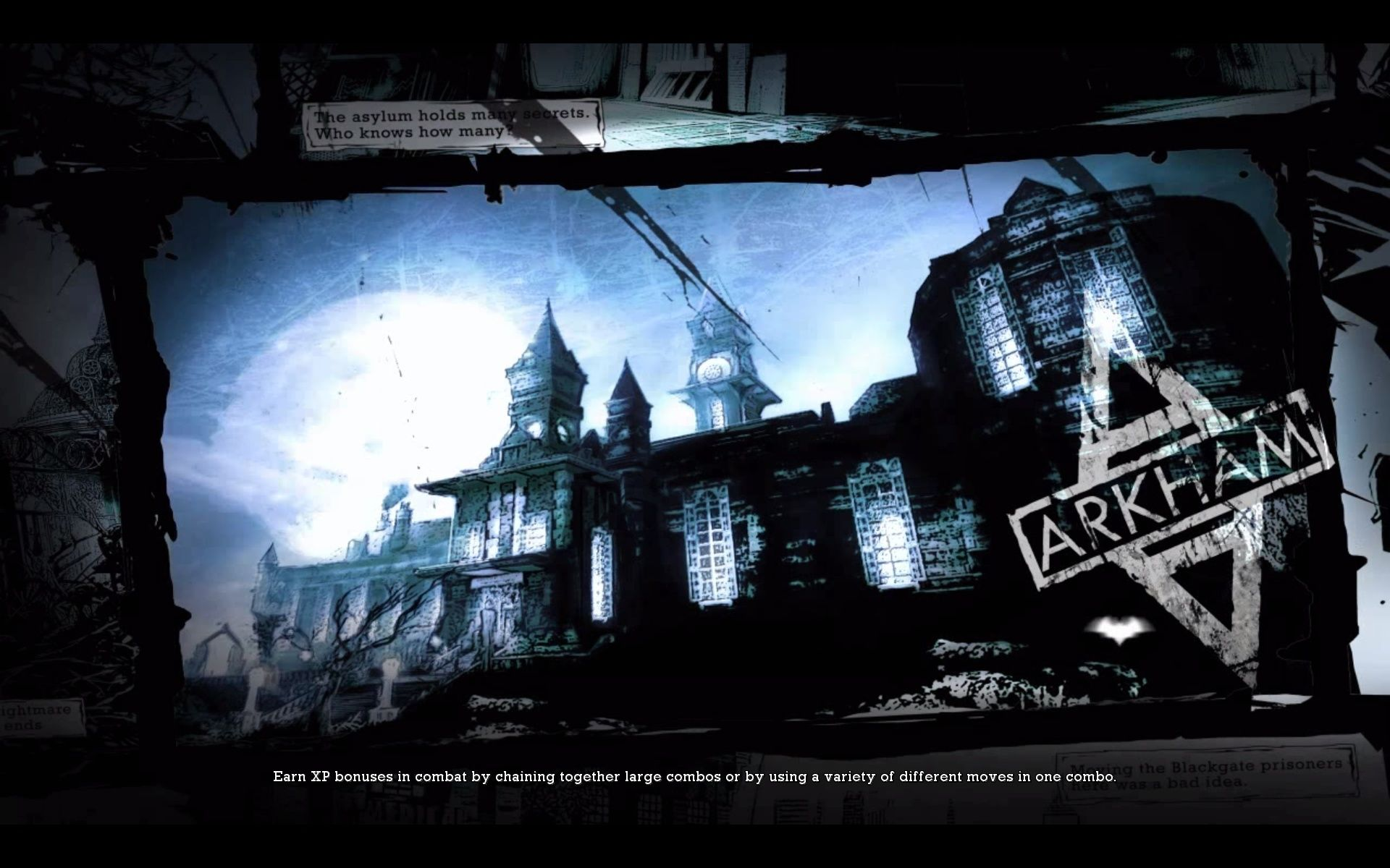 Batman: Arkham Asylum Windows Loading Screen.