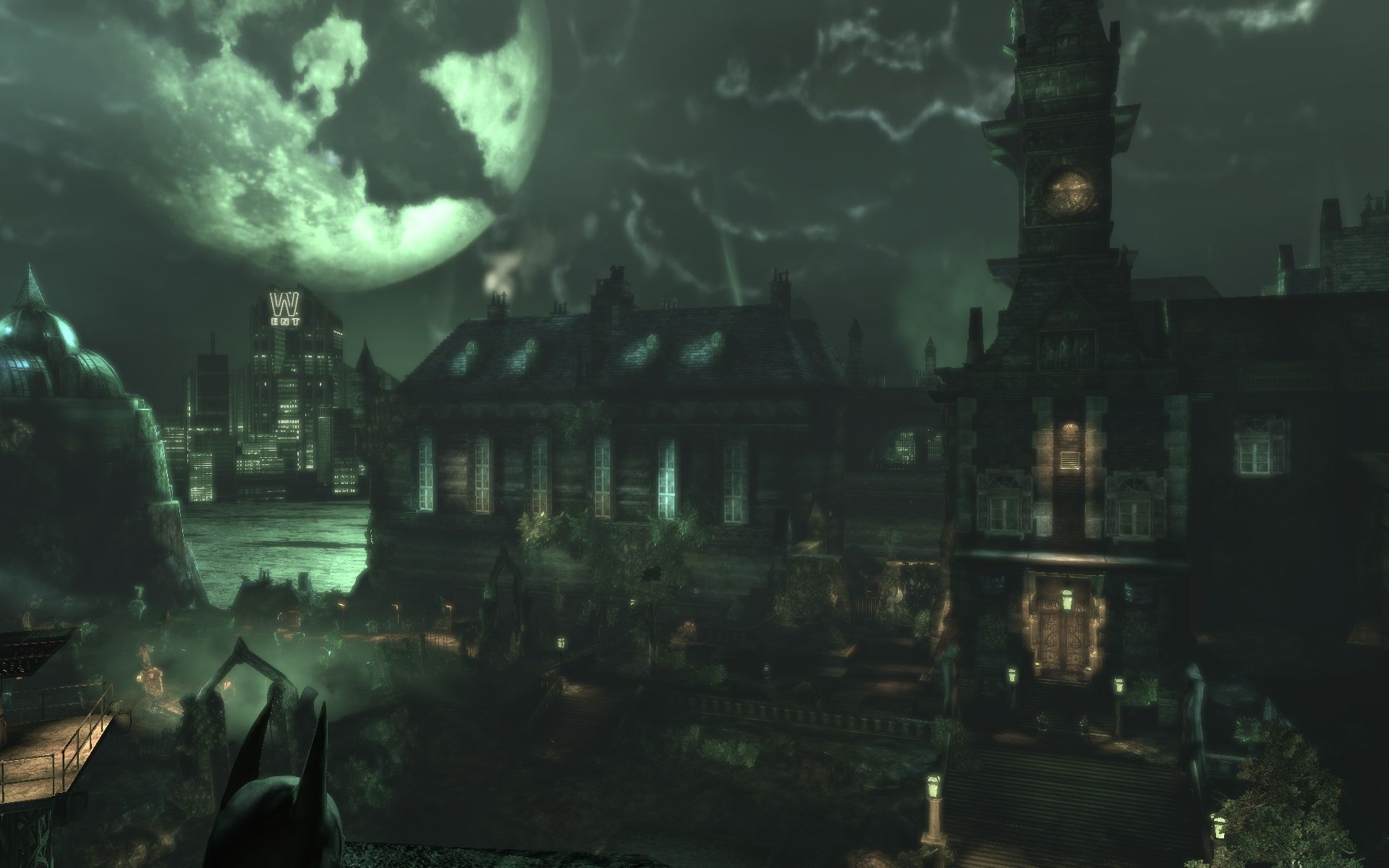 Batman: Arkham Asylum Windows Finally outside!