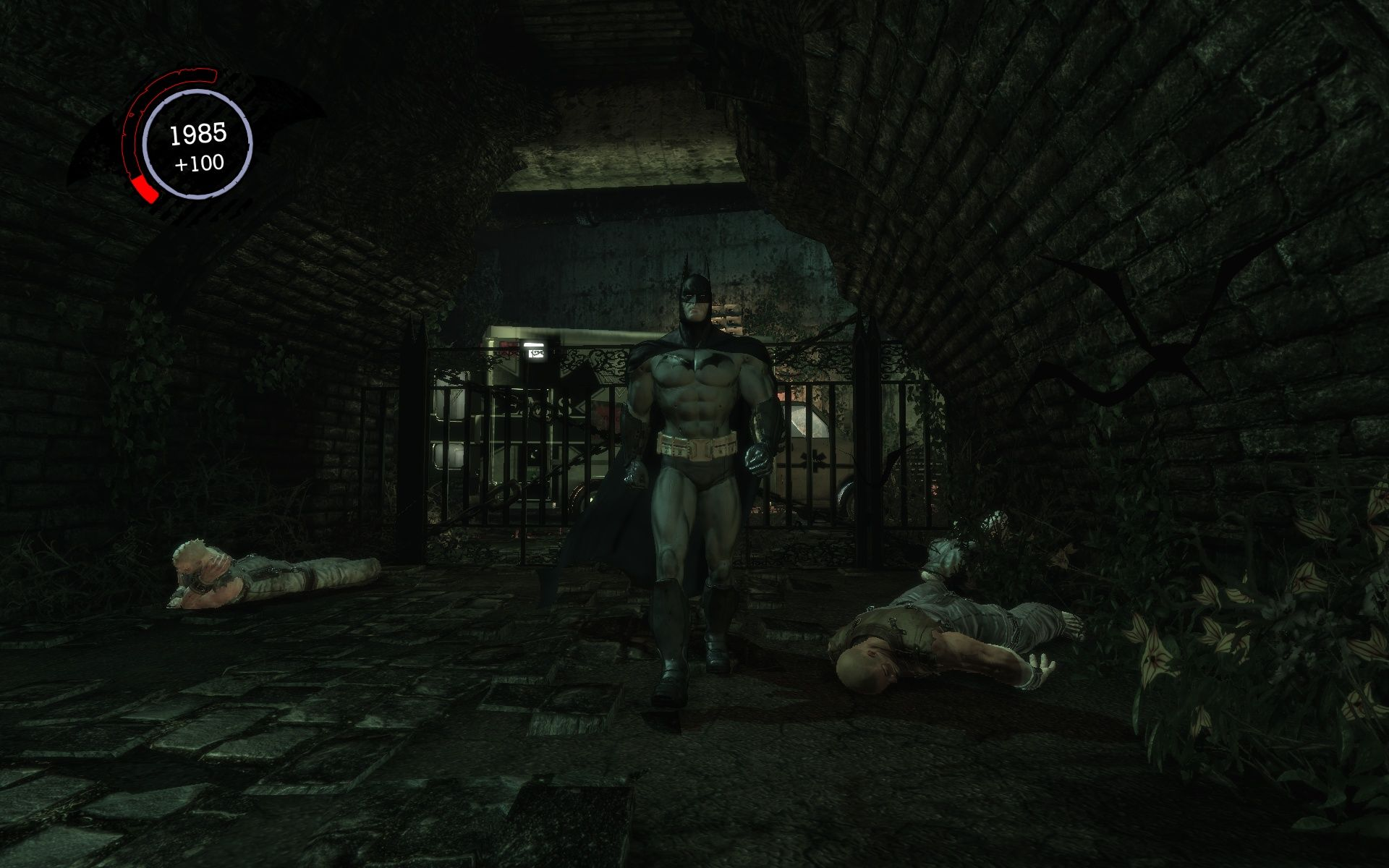 Batman: Arkham Asylum Windows Two goons down - one Bat up.