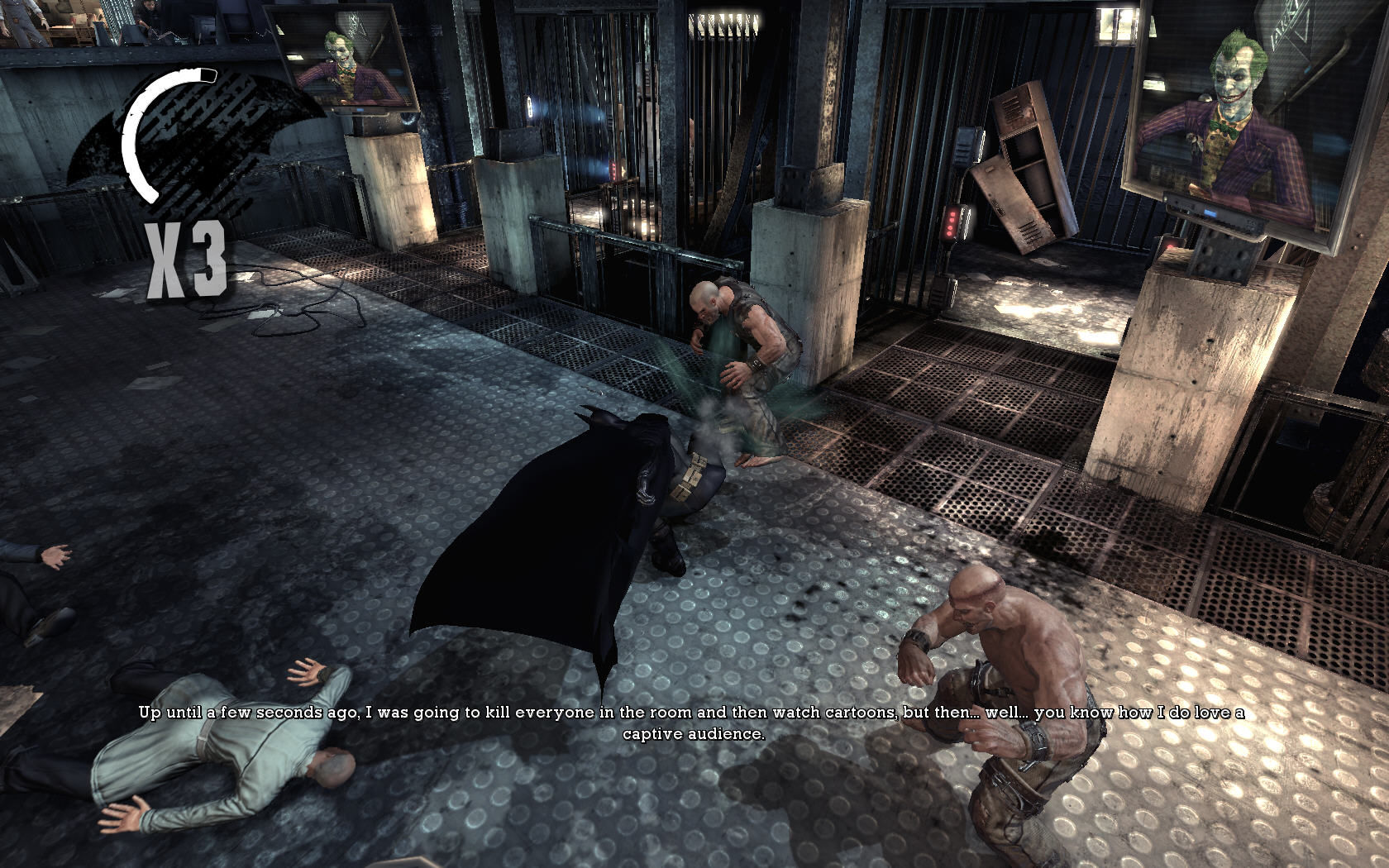 Batman: Arkham Asylum Windows Fighting against bad guys