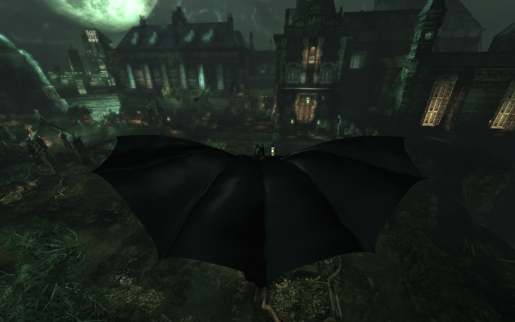 Batman: Arkham Asylum Windows Batman flying
