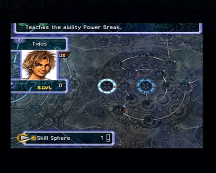 Final Fantasy X PlayStation 2 Character upgrading method is now a little bit versatile and different thatn in previous FF games.