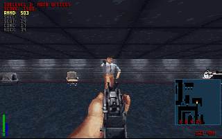The Terminator: Rampage DOS Say there, Mr. Executive. What's with the gun?