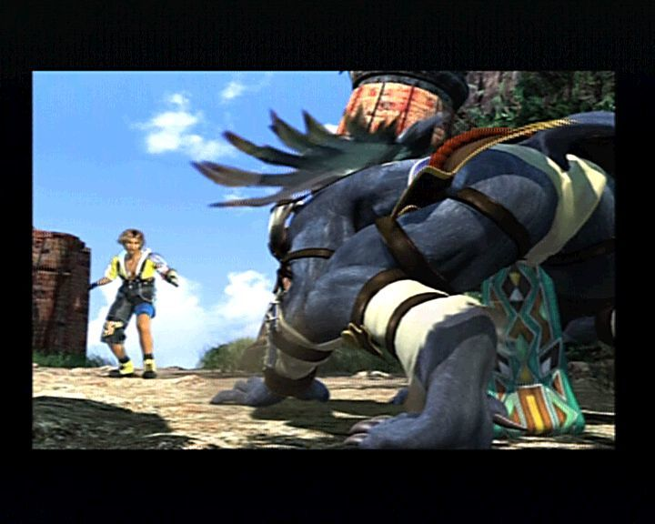 Final Fantasy X PlayStation 2 Tidus and Kimahri didn't start up fairly well. It's time for acquaintance.