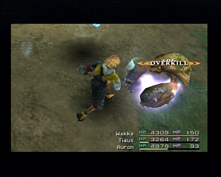 Final Fantasy X PlayStation 2 Tidus is best and quickest in handling foes of his size