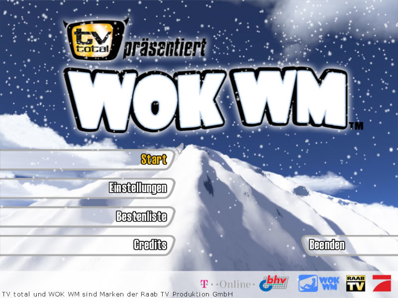 TV total präsentiert Wok WM Windows Main menu (demo version)