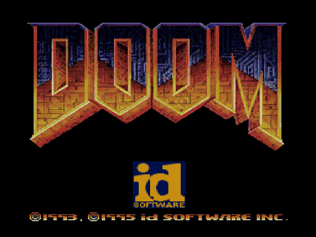 DOOM PlayStation Playstation title screen