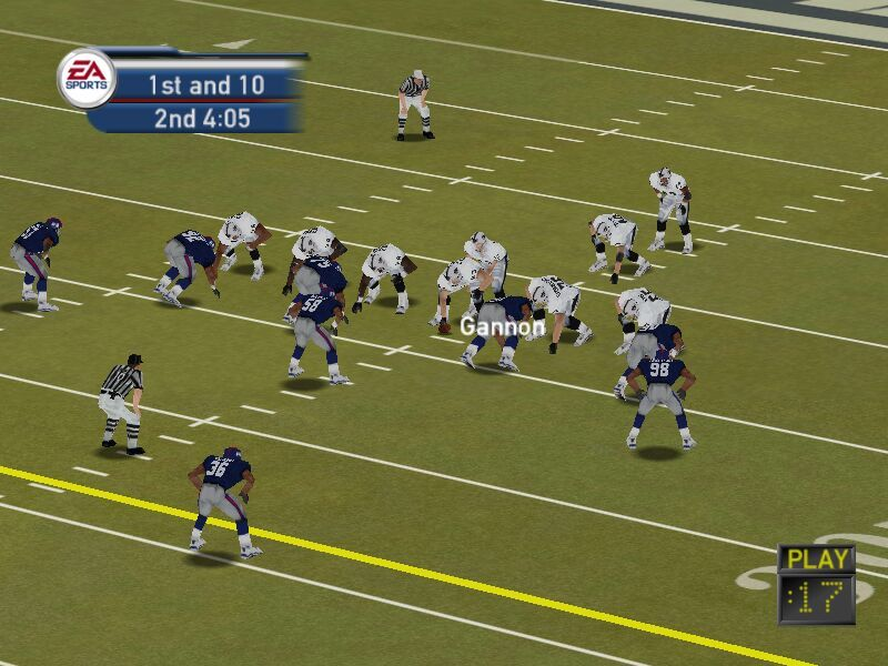 Madden NFL 2002 Windows TV Camera
