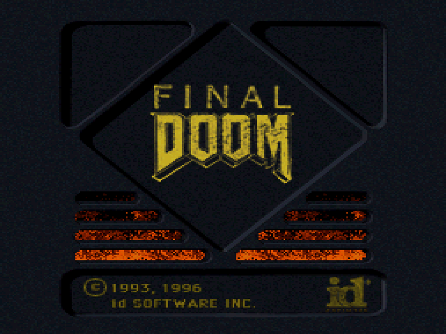 Final DOOM PlayStation Title screen