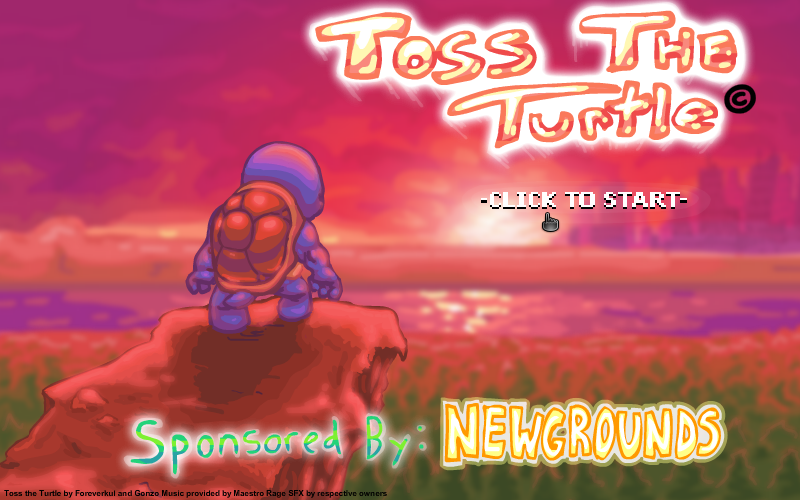 Toss the Turtle Browser Title screen