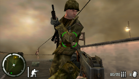 Medal of Honor: Heroes 2 PSP My mate here has weird eyes. Maybe that's a subtle lesson EA is teaching about the consequences of war?