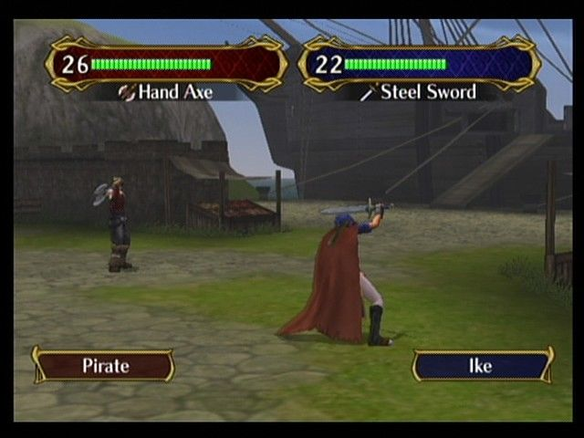 Fire Emblem: Path of Radiance GameCube Ike faces a pirate