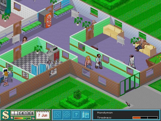 Theme Hospital Windows A part from a not crowded hospital! (in-game shot, high resolution)