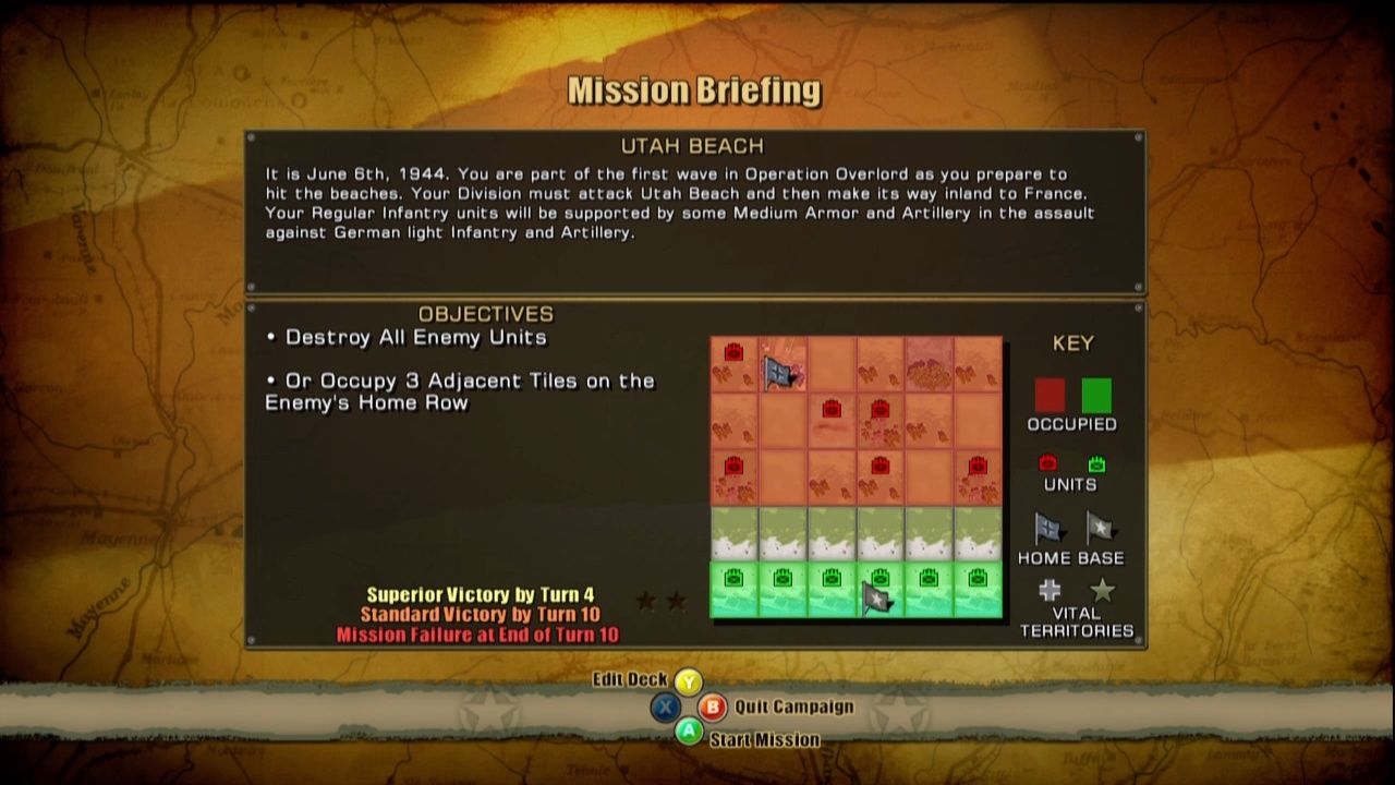 Panzer General: Allied Assault Xbox 360 The mission objectives are always very simple.