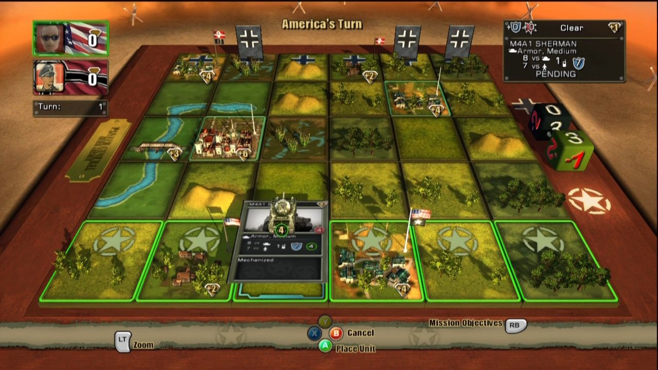 Panzer General: Allied Assault Xbox 360 Placing my first unit on the board.